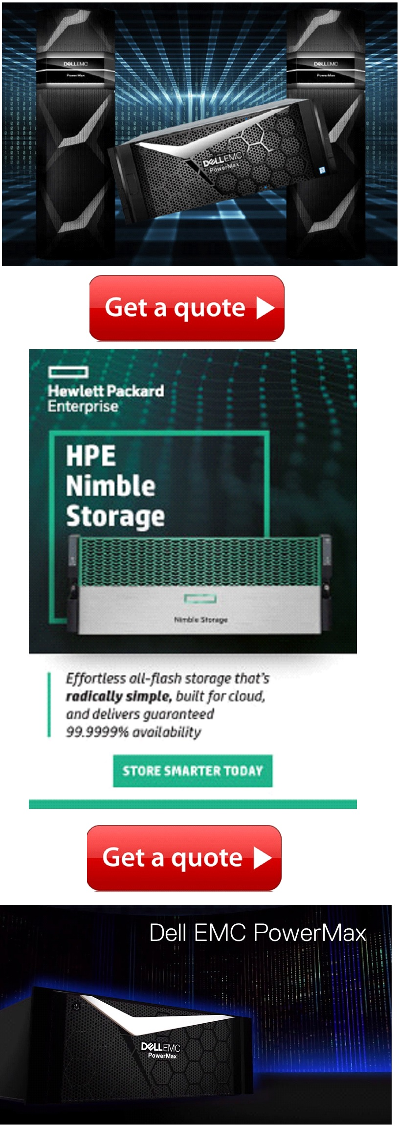 Buy HPE Nimble Storage and drives